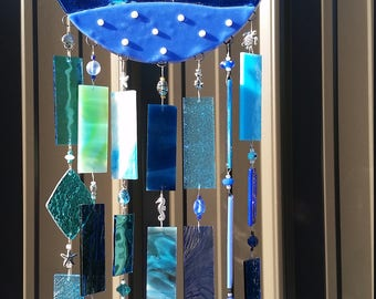 Ridin' The Wave Glass Wind Chime