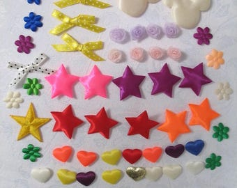 Puffy Appliques, Ribbon Bows, Ribbon Flowers for Your Art and Craft Project