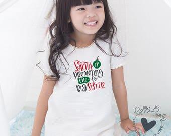 Kids Christmas SVG | Santa is Promoting Me to Big Sister | Christmas SVG Files | Holiday Cutting File | Christmas for Cricut | XMAS File