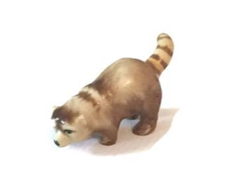 Metlzer and Ortloff vintage porcelain Red Panda figurine - Miniature - Rare - 1930s to 1940s