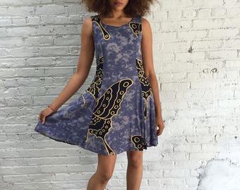 vintage 90s sleeveless babydoll dress / 1990s hippy boho grunge dress