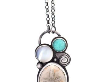Sea urchin necklace   ...