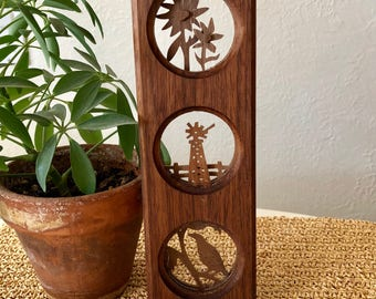 Carved Wood Wall Hanging