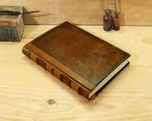 Large leather Journal, Artist Sketchbook, Brown Vintage Leather - Time Capsule