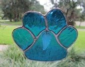 Remembrance Puppy Paw Sun Catcher, Rainbow Bridge, Memory, puppy paw, remembrance, glass art, pet, animal, pet loss, pet loss gift