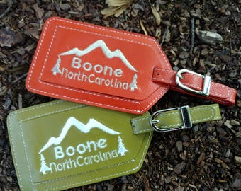 Mountain Boone North Carolina Luggage Tag
