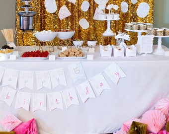 Gemstones | Diamonds Birthday | Bridal Shower PRINTABLE Party Collection - You Customize EDITABLE TEXT >> Instant Download | Paper and Cake