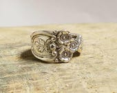 Sterling Silver Buttercup Spoon Ring