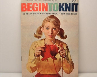 Begin to Knit An American Thread Co. Star Book No. 201