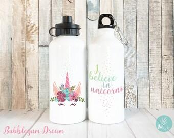 I Believe in Unicorns Gifts Kids Girls, Unicorn Water Bottle Unicorn Gifts for Girls, Kids Water Bottles for Kids Unicorn, 20 oz Aluminum