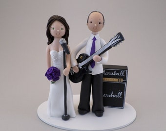 Singer & Guitarist Customized and Unique Wedding Cake Topper