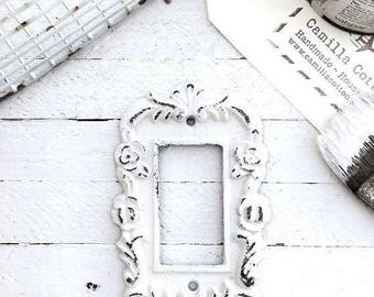 Metal Wall Decor, Light Switch Cover, Rocker Switch Plate, Ornate, New House