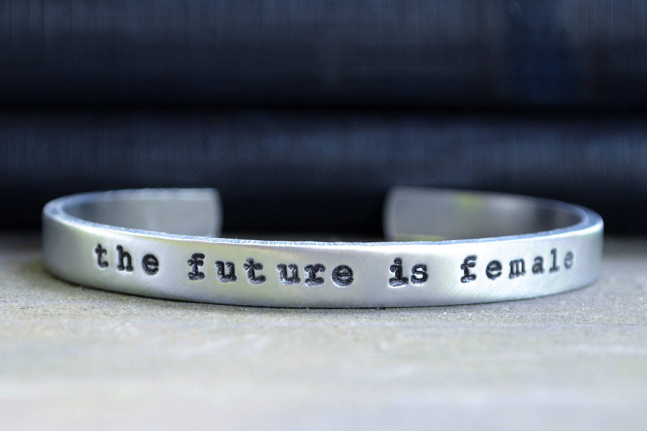 the future is female cuff bracelet feminist jewelry