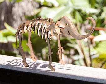 Mammoth Skeleton Model / Puzzle - Laser-Cut Baltic Birch