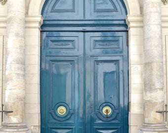 Paris Photography, Teal Doors in Paris Print, Teal Wall Art, Blue Door Print, Paris Photo,Paris Door Print,Paris Wall Art,Paris Streets
