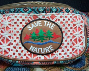 Vegan, Fanny Pack, Eco, Environmental, Hands free bag, Save the Nature, 5 colors available