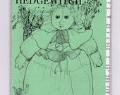 "witch cloth doll pattern - vintage factory folded Hella Hedgewitch - Ellise Peeples Dolls - 15"" doll"