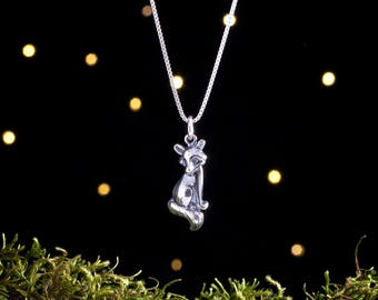 Sterling Silver Fox Charm - (Charm or Necklace)