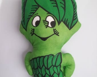 """Vintage LITTLE SPROUT DOLL Mail away Premium 13"""" Jolly Green Giant Cute!"""