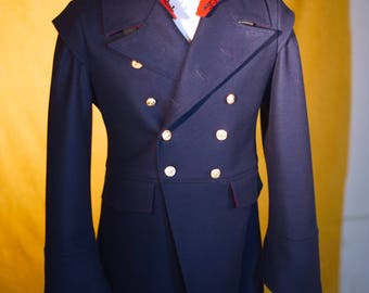"Hooded ""Devil Tail"" Military Greatcoat"