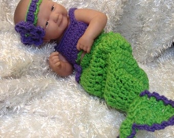 Ready to ship.14 inch Doll Clothes . Mermaid Set
