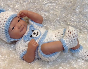 Clothes For 14 inch and 9 inch Dolls. Bear Set.