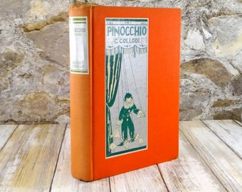 Pinocchio: The Story of a Puppet by Carlo Collodi, Hardcover, 1930