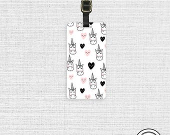 Luggage Tag Mod Unicorn Love Metal Luggage Tag  With Printed Custom Info Single Tag