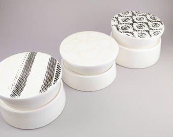 Salt cellar - ceramic jar - ceramic container- small salt cellar - modern salt jar - 50% OFF -