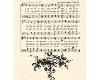 IMMORTAL, INVISIBLE, GOD Only Wise 5x7 Christian Home & Office Decor Antique Hymn Wall Art Print - Vintage Verses Sheet Music Wall Art Sale