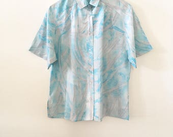 80's Paint Strokes Blouse
