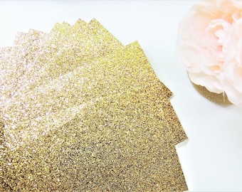 50 Gold GLITTER SHEETS Cardstock Paper DIY Wedding Birthday Invitations Table Number Card Blank Invites Cards Party Supplies 5x7 4x6 3x5