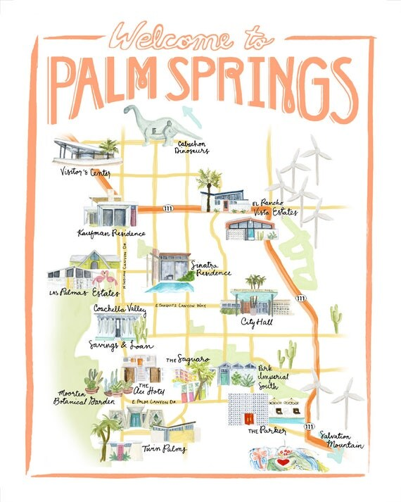 Customizable Palm Springs Map