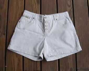 Vintage 1990s LEI Surplus Khaki Short Shorts - Size 13