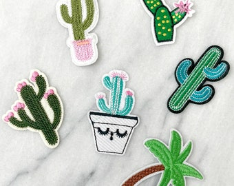 Desert Bloom  - Set of 6 Embroidered Patches
