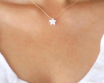 Opal Star Necklace | Opal and Gold Star Necklace