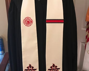 Fire Chaplain Clergy Stole