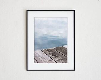 DOCKSIDE  |  instant download, photo print, nautical decor, wall art, nautical art, macro photo, summer print, seascape, driftwood, lake