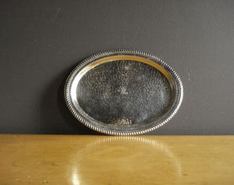 Vintage Silver Tray - Mini Oval Silverplate Platter or Serving Tray - VP Fair (St. Louis) - Made in England
