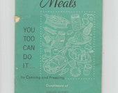 Jiffy Meals Kerr Glass Canning and Freezing Recipes Mid Century Vintage Cookbook Booklet 1963