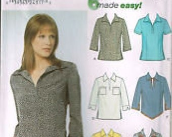 Simplicity Pattern 9411- Misses Tops, Size HH (6, 8, 10, 12)