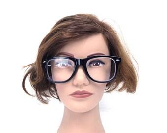strong reading glasses 3.50 strength high cheater glasses mens oversize plastic frame cheaters women 90's nerdy glasses nerd fashion mens