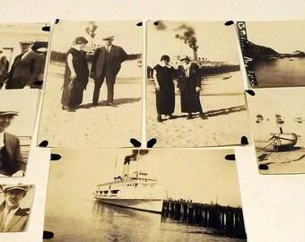 Catalina Island 9 sepia photographs from 1924