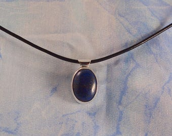 Lapis and Sterling Silver Pendant