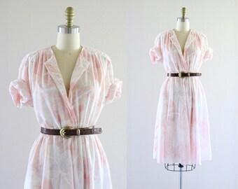 blush botanical belted dress
