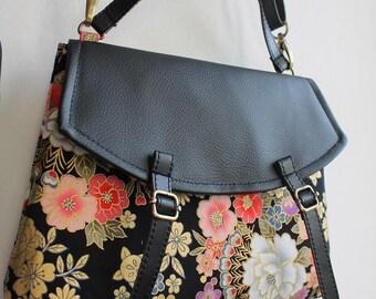 """11"""" satchel magnetic closure - Black red - Mailine"""