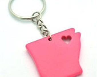 Pink My Heart is in Arkansas Key Chain  State Love