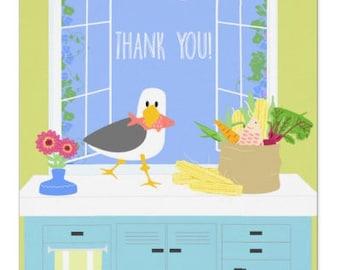Kitchen Gulls THANK YOU Card
