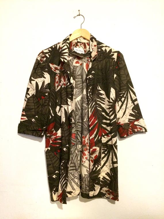 Palm Leaves Print Open Cardigan