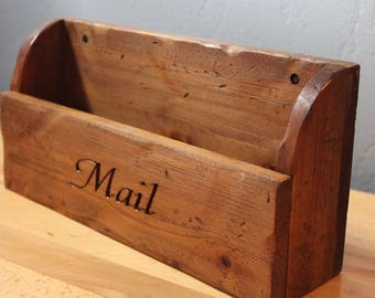 Rustic Mail Holder - Wall Mountable Mail Holder